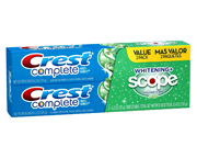 CREST COMPLETE EXTRA WHITENING SCOPE PASTA DENTAL 2 UN PACK